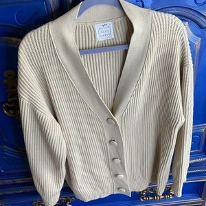 Hello September Grandpa Cardigan Knit Sweater LG